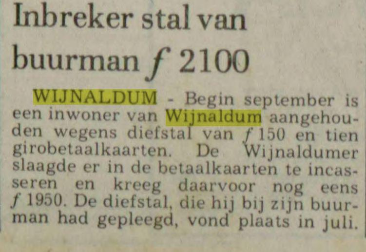 Dit bericht is van 8 september 1981